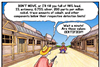 Cartoon time comic strip   alaytic chemists in the WIld West