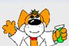 Creative chemistry mascot