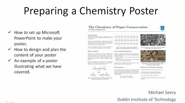 Student posters on chemistry topics | Ideas | Education in Chemistry