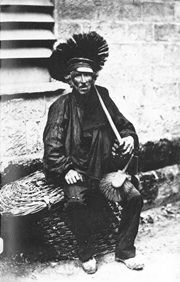 A chimney sweeper in 1850