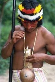 A South American Indian with arrows