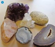 Figure 1 - A selection of minerals and crystals