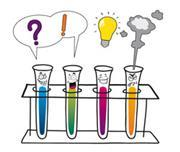 Different types of liquid in test tubes