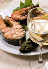 White wine and fish