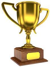 A gold trophy
