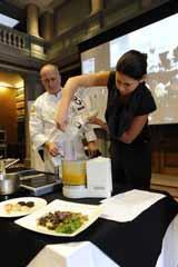 Cool food - using dry ice to make mango sorbet