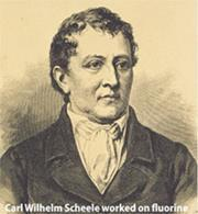 Carl Wilhelm Scheele worked on flourine