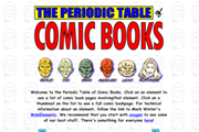 Screenshot from the Periodic table of comic books