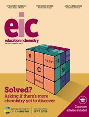 Cover, Education in Chemistry, May 2019