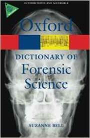 cover of Oxford dictionary of forensic science