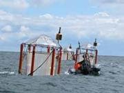 Floating off-shore mesocosm experiment for studying open acidification on planktonic ecosystem