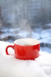 A cup of tea in the snow