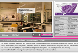 A screenshot of the interactive synthetic lab tour from the ABPI website