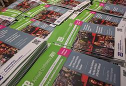 A pile of programmes at the ASE annual conference 2017
