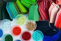 Plastics in a range of shapes and colours