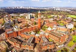 University of Birmingham aerial view