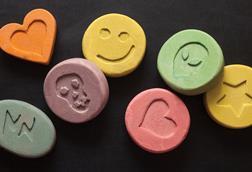 Seven coloured pills