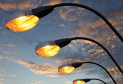 Sodium street lamps