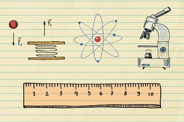 An image showing doodles representing physics, chemistry and biology