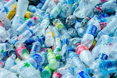 An image showing lots of plastic bottles