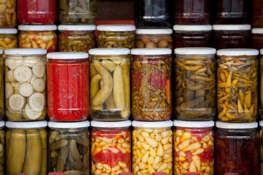 An image showing pickle jars