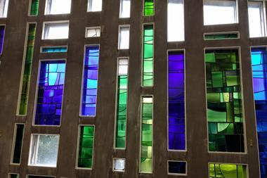 Stained glass window, University of Liverpool