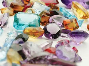 Coloured gemstonesw