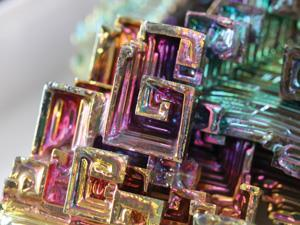 Iridescent bismuth crystal