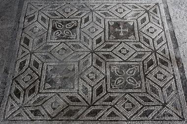 An image showing a part of the mosaic being studied