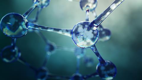 Conceptual illustration of atoms bonded in a molecule