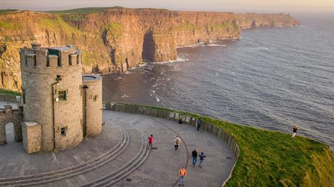Cliffs of Moher at sunset, Country Clare, Ireland