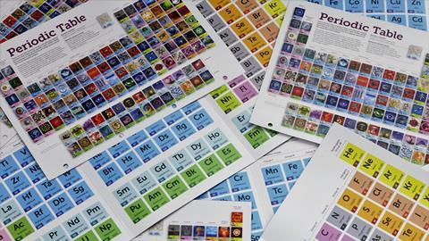 Collection of Royal Society of Chemistry periodic tables