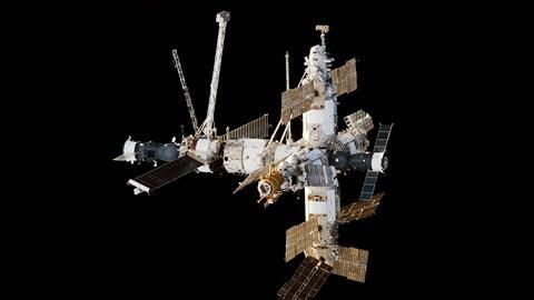 Mir Space Station viewed from Endeavour during STS 89