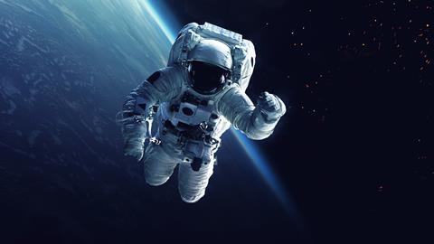 An image showing an astronaut in space