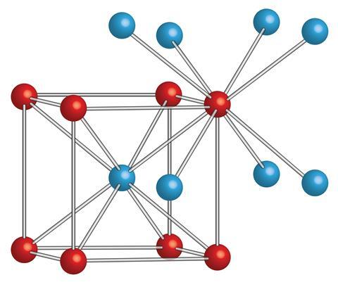 The lattice structure of caesium chloride