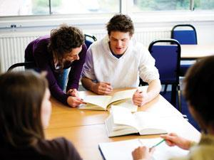 A student receiving learning support