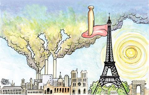 Cartoon of a bad smell over Franc