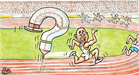 Cartoon sprinter