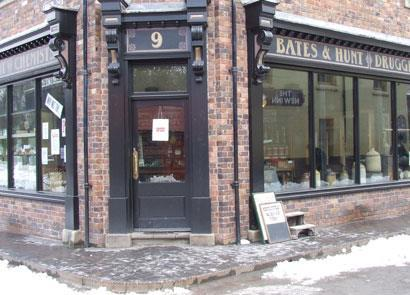 Bates and Hunt Chemist's shop at Blists Hill