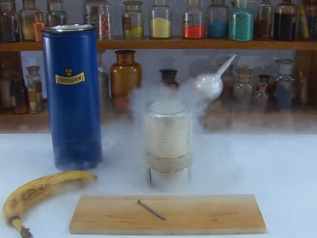 Liquid nitrogen experiment on ChemToddler