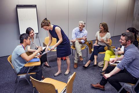 An image showing teachers during a workshop