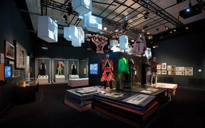 Clothing displayed at the Victoria and Albert Museum, London