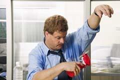 Using a fan to dry armpit sweat