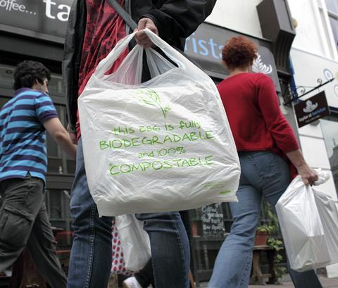 An image showing a biodegradable shopping bag