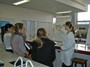 A student teaching