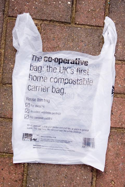 An image showing a co-operative compostable bag
