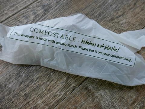 An image showing a compostable bag
