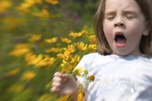 A child with hayfever
