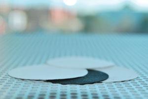 Flexible black multi-walled nanotube paper.