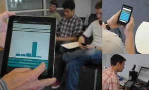 Students check their understanding using Socrative